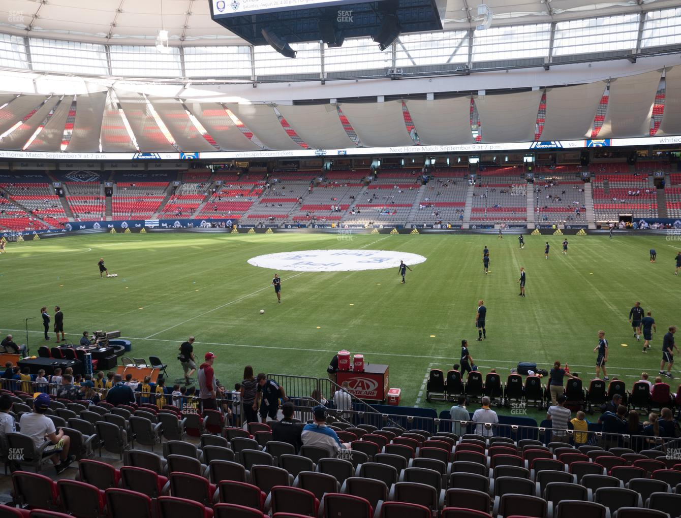 Vancouver Whitecaps FC at BC Place Stadium Section 213 View