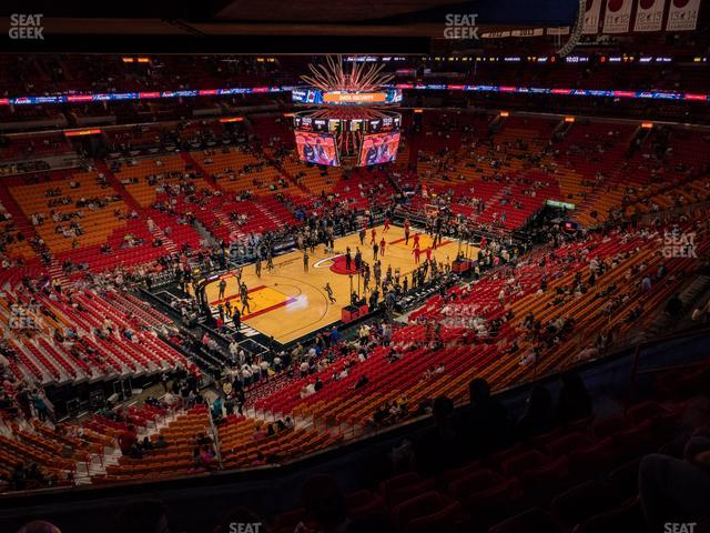 American Airlines Arena Section 328 view