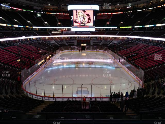 Canadian Tire Centre Section 201 view