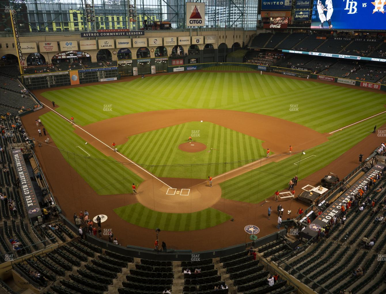 Houston Astros at Minute Maid Park Section 320 View