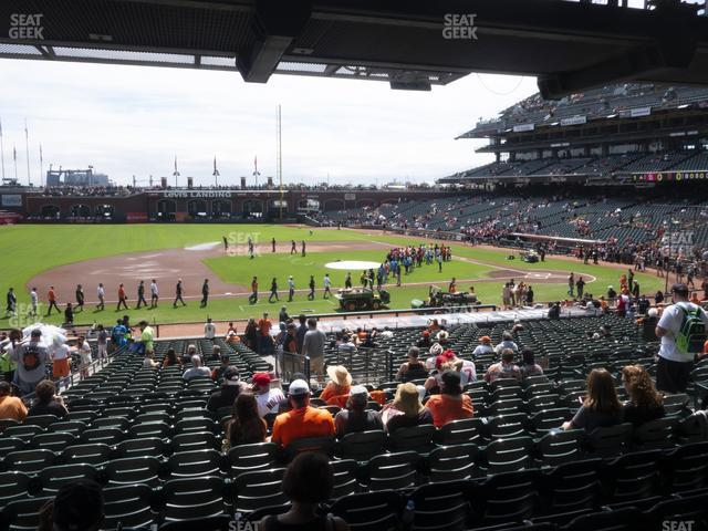 Oracle Park Section 124 view