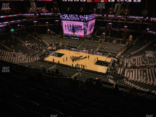 AT&T Center Section 222 view