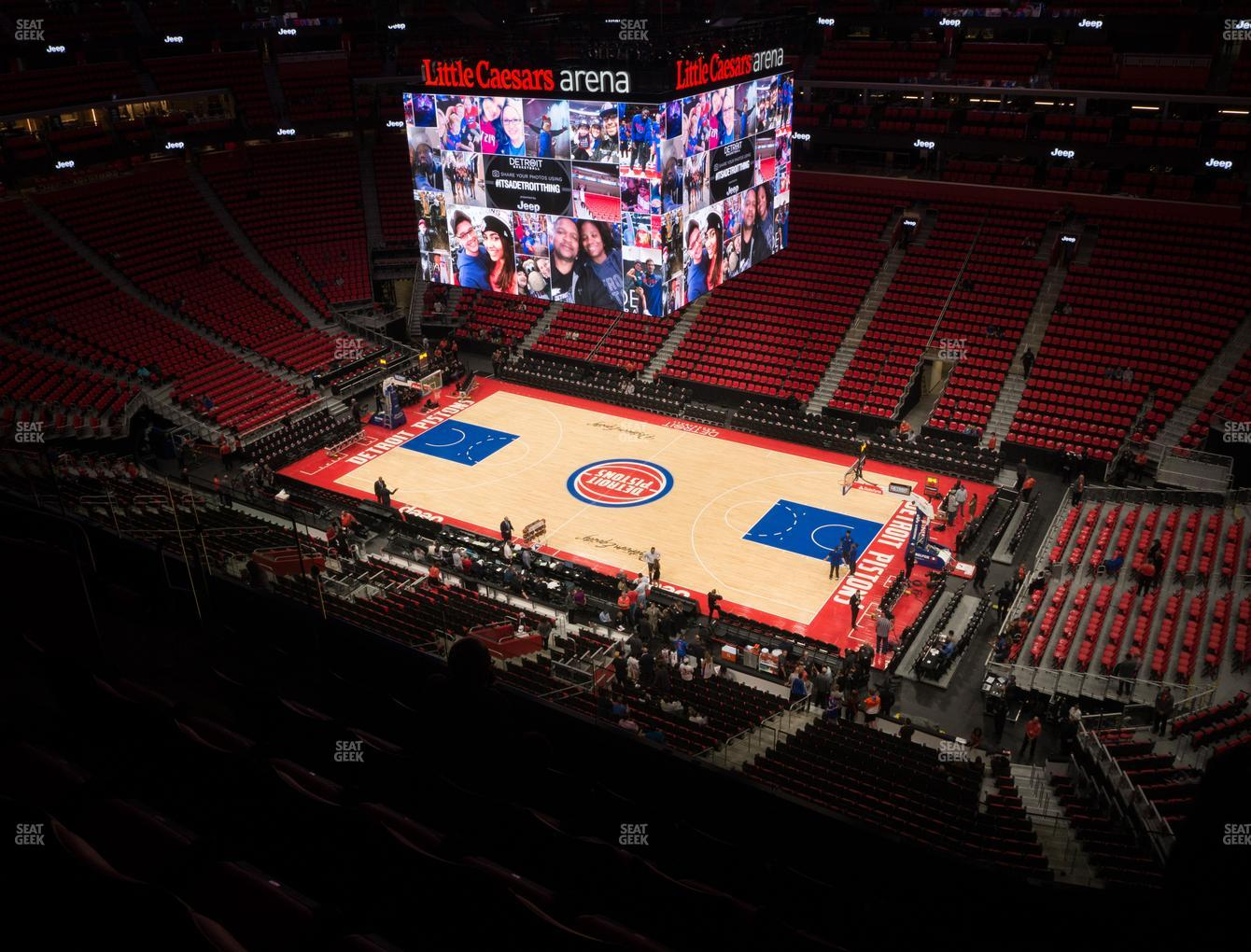 Detroit Pistons at Little Caesars Arena Section 224 View