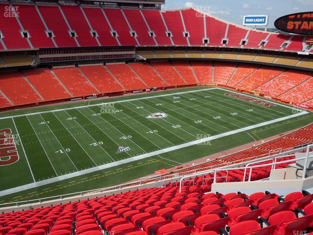 Arrowhead Stadium Section 305 view