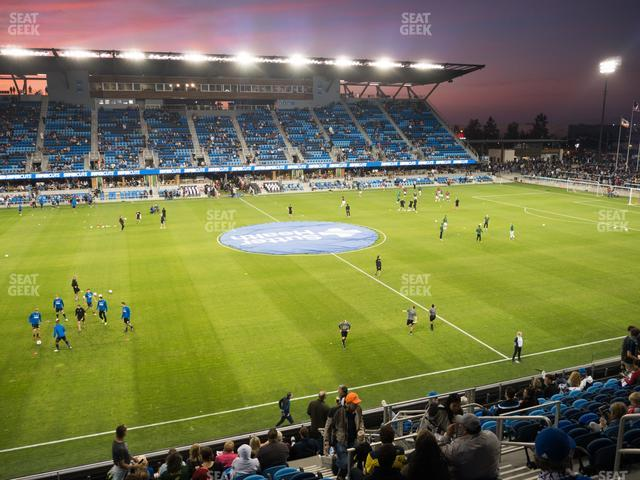Earthquakes Stadium Section 127 view