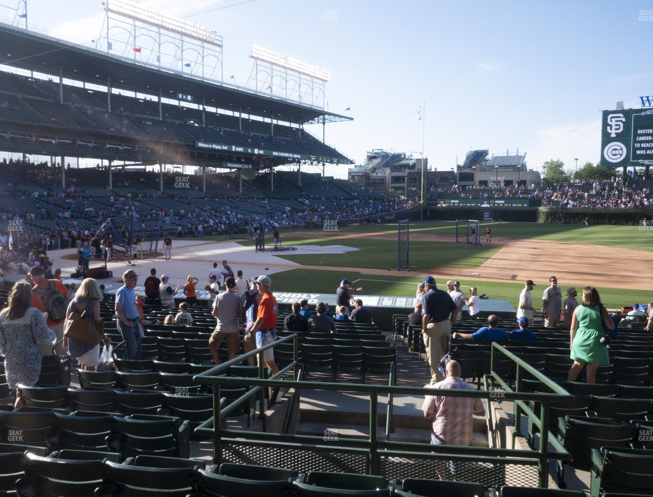 Chicago Cubs at Wrigley Field Section 125 View