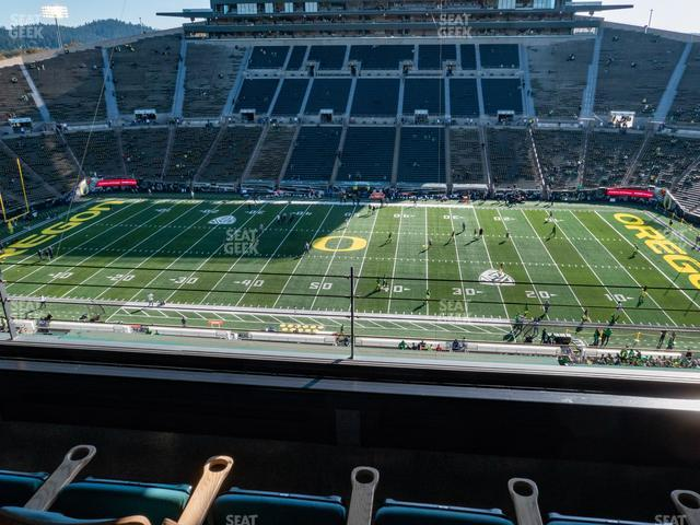 Autzen Stadium Charter Box 3 view