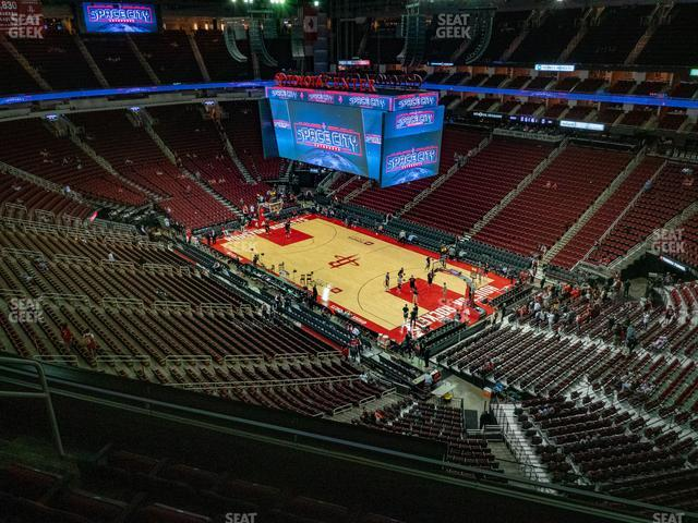 Toyota Center Section 422 view