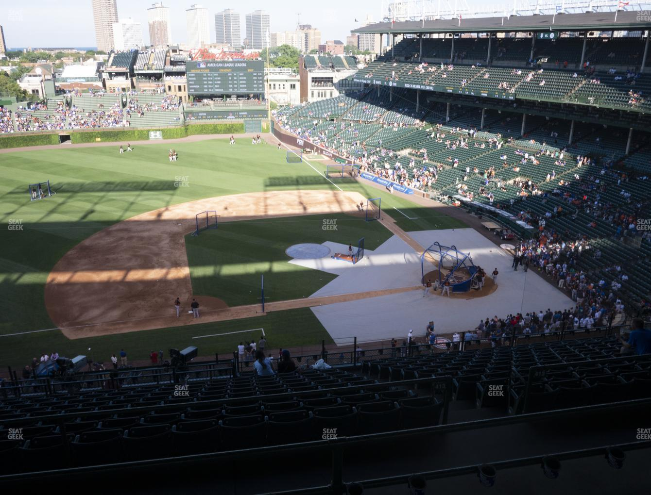 Chicago Cubs at Wrigley Field Section 410 Left View