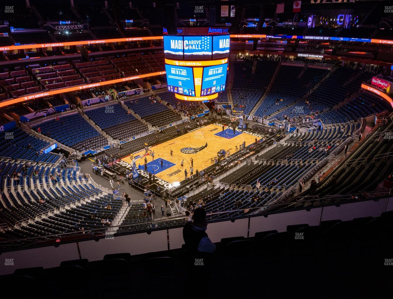 Orlando Magic at Amway Center Section 213 View