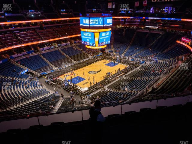 Amway Center Section 213 view