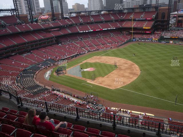 Busch Stadium First Base Terrace 437 view
