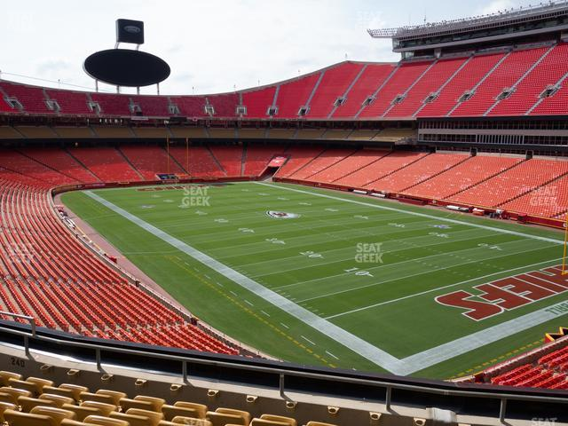 Arrowhead Stadium Section 240 view