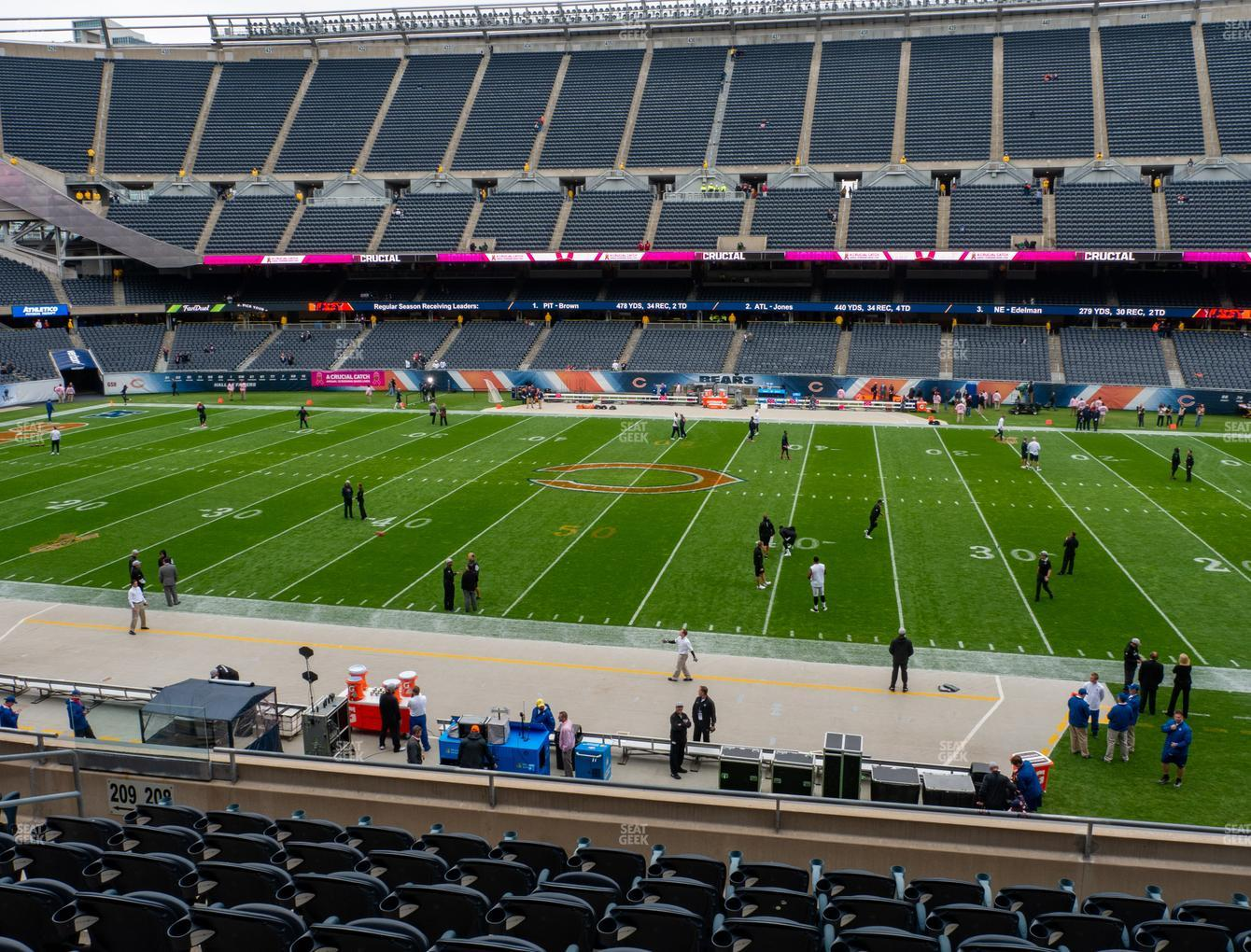 Chicago Bears at Soldier Field Section 208 View