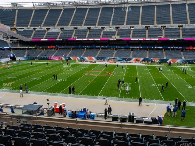 Soldier Field Section 208 view