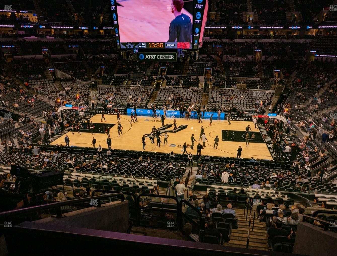 San Antonio Spurs at AT&T Center Section 121 View