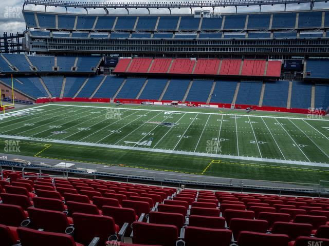Gillette Stadium Section Club 30 view