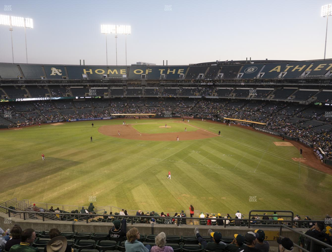 Oakland Athletics at RingCentral Coliseum Section 237 View