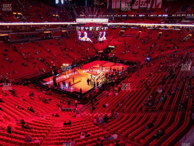 American Airlines Arena Section 313 view