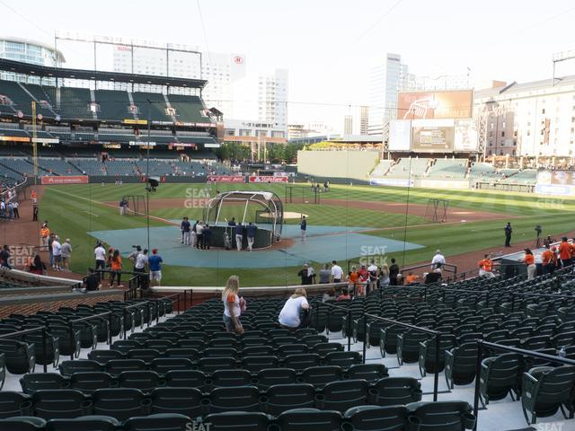Oriole Park at Camden Yards Section 34 view