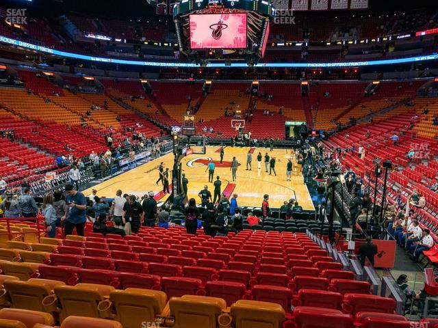 American Airlines Arena Section 124 view