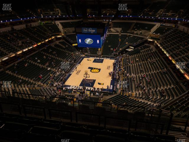 Bankers Life Fieldhouse Section 216 view