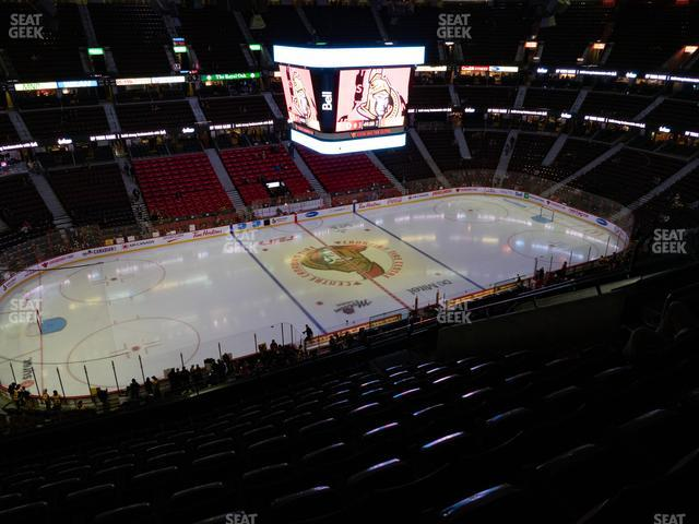 Canadian Tire Centre Section 310 view