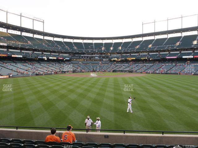 Oriole Park at Camden Yards Section 92 view