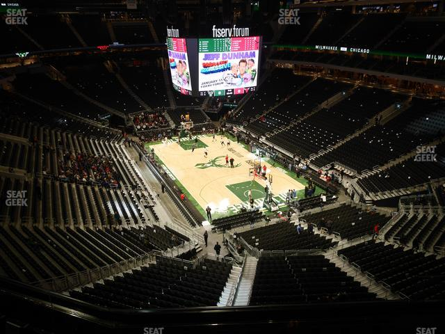 Fiserv Forum Section 203 view