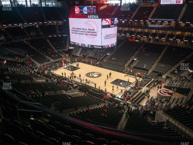 State Farm Arena Section 219 view