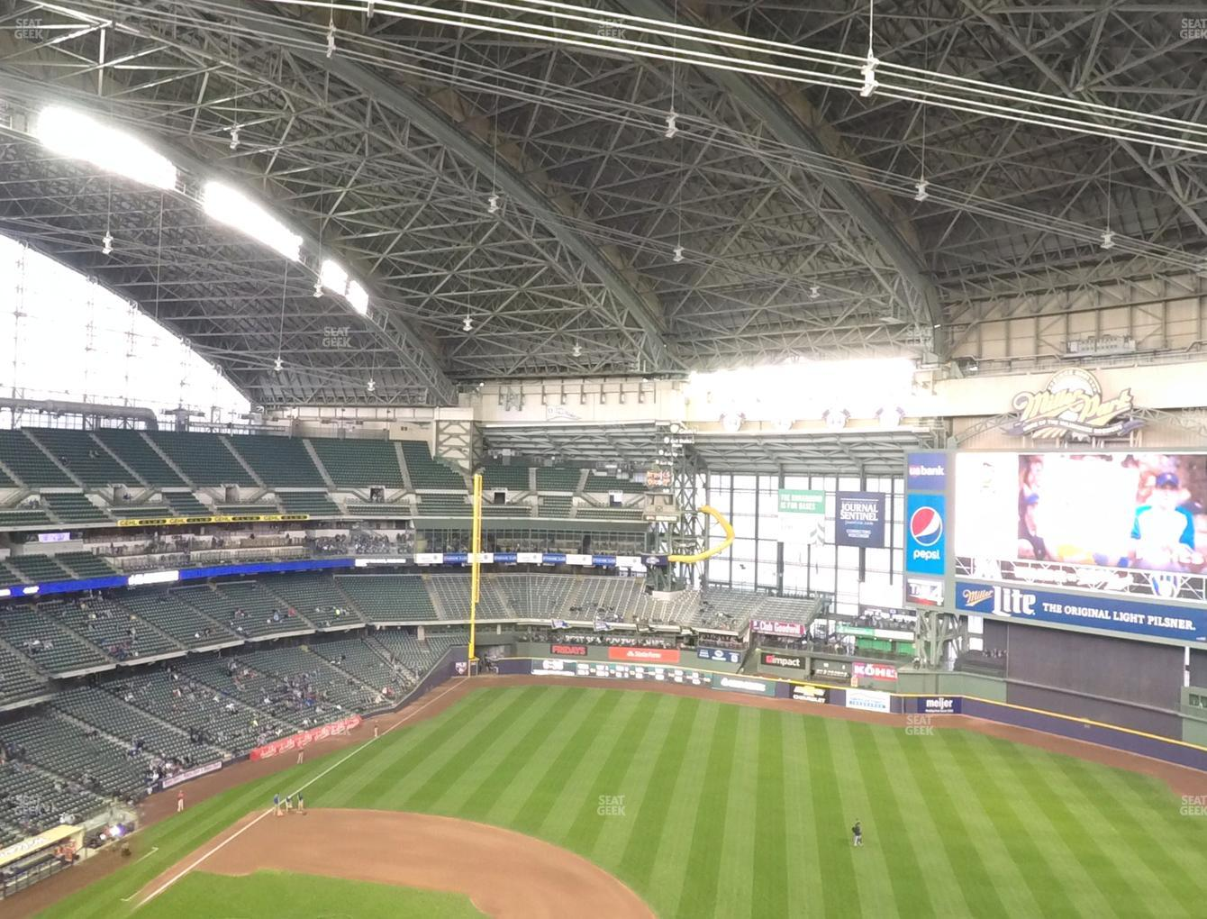 Milwaukee Brewers at Miller Park Section 413 View