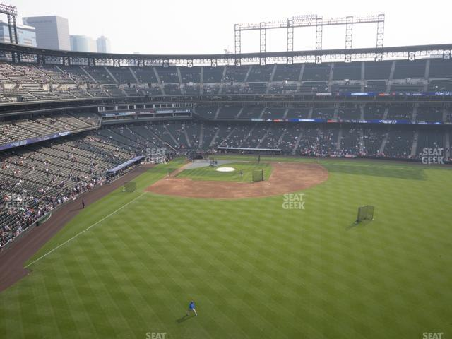 Coors Field Lower 305 view