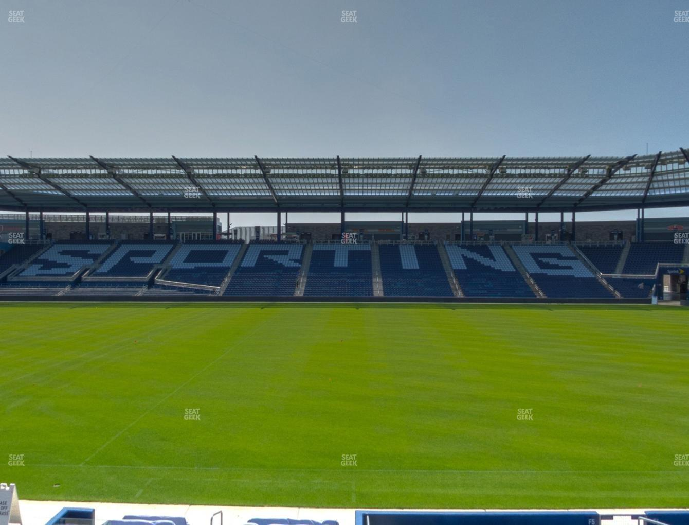 Sporting Kansas City at Children's Mercy Park W I S E Power Shield Club 108 View