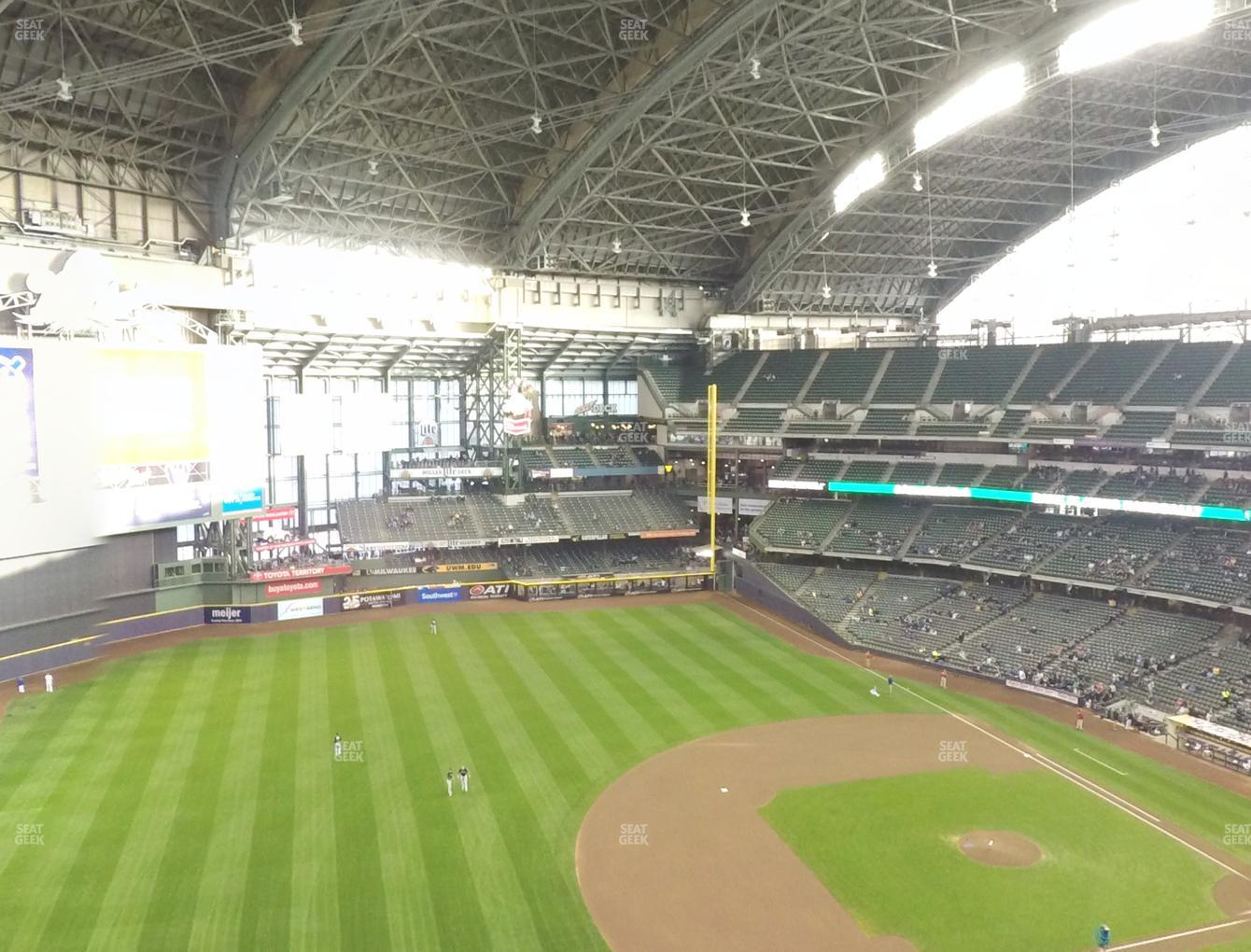 Concert at Miller Park Section 432 View