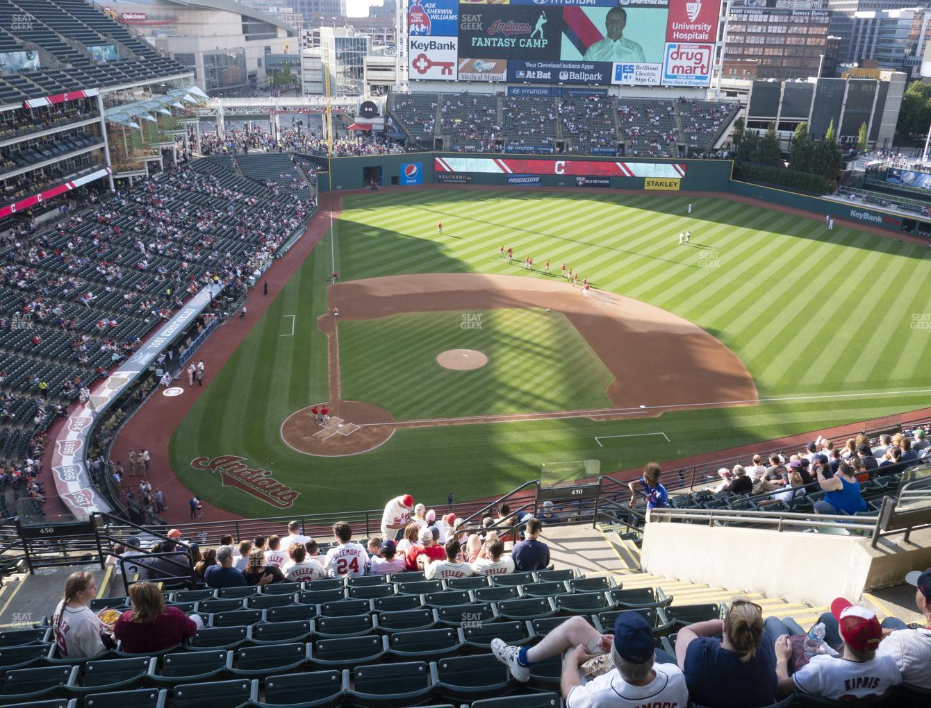 Cleveland Indians at Progressive Field Section 550 View