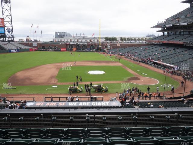 Oracle Park Section 222 view