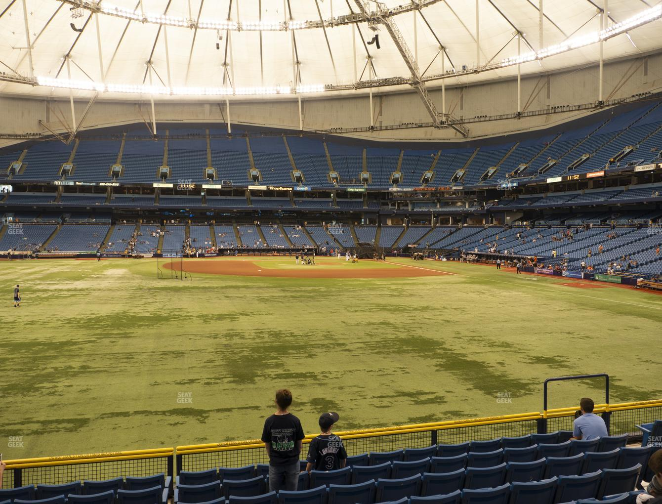 Tampa Bay Rays at Tropicana Field Section 145 View