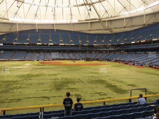Tropicana Field Section 145 view