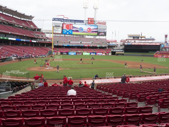 Great American Ball Park Section 127 view