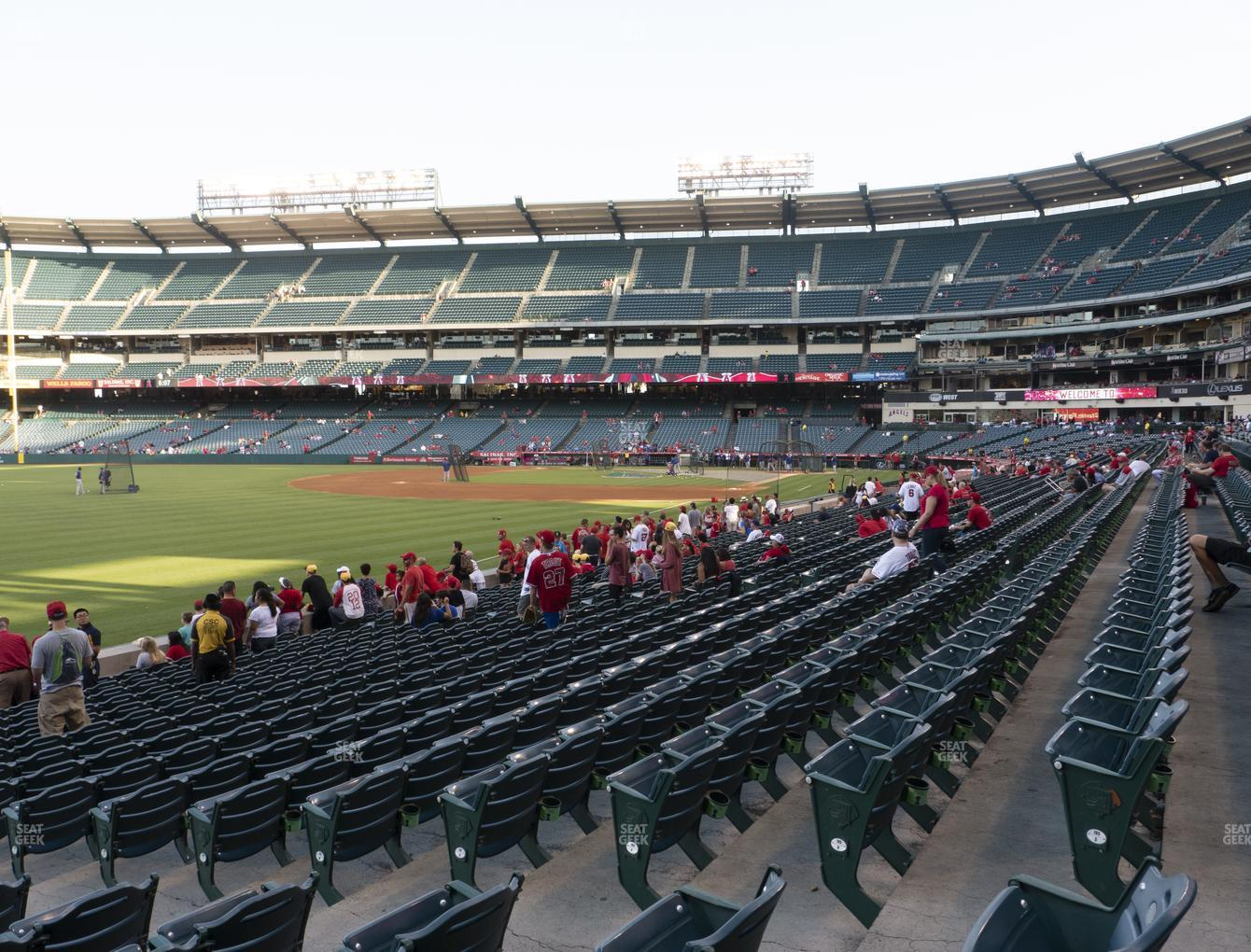 Los Angeles Angels at Angel Stadium of Anaheim Section 105 View