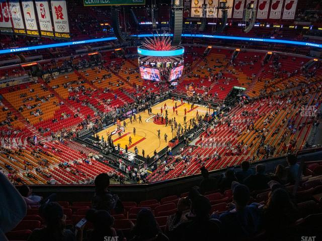 American Airlines Arena Section 402 view