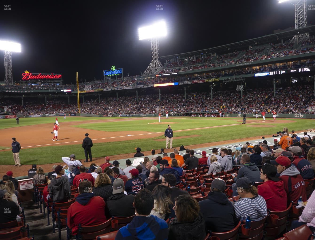 Boston Red Sox at Fenway Park Loge Box 151 View