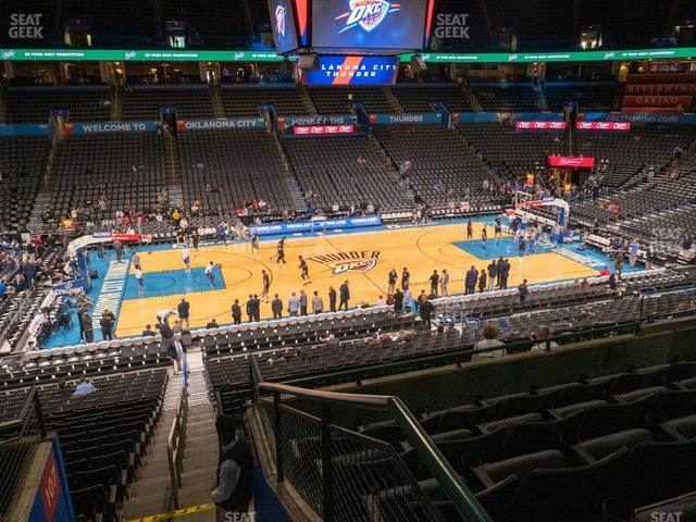 Chesapeake Energy Arena Section 209 view