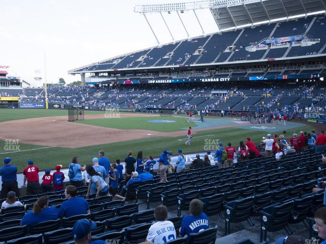 Kauffman Stadium Section 116 view