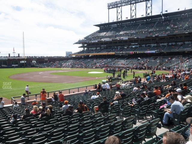 Oracle Park Section 127 view