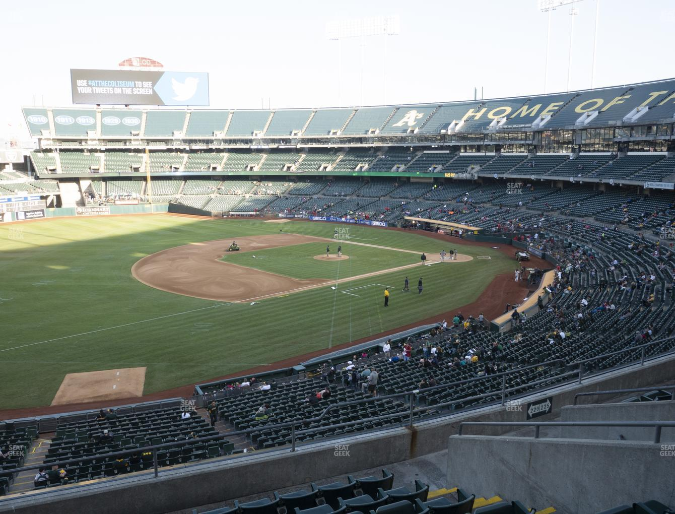 Oakland Athletics at Oakland-Alameda County Coliseum Section 226 View