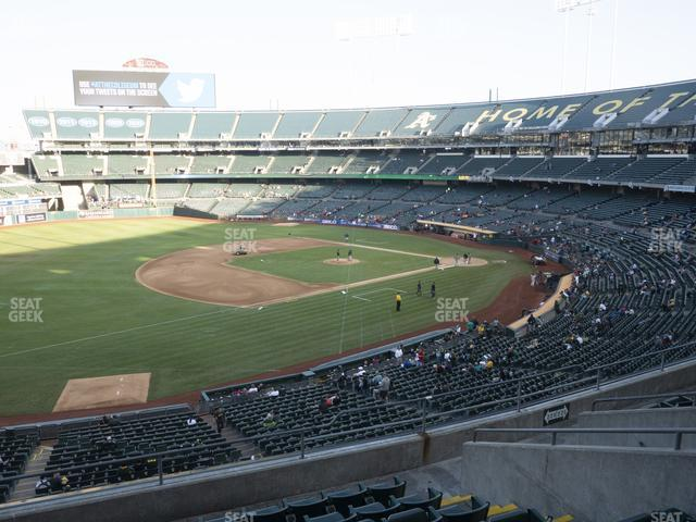Oakland-Alameda County Coliseum Section 226 view