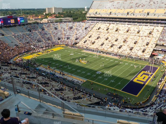 LSU Tiger Stadium Section 611 view