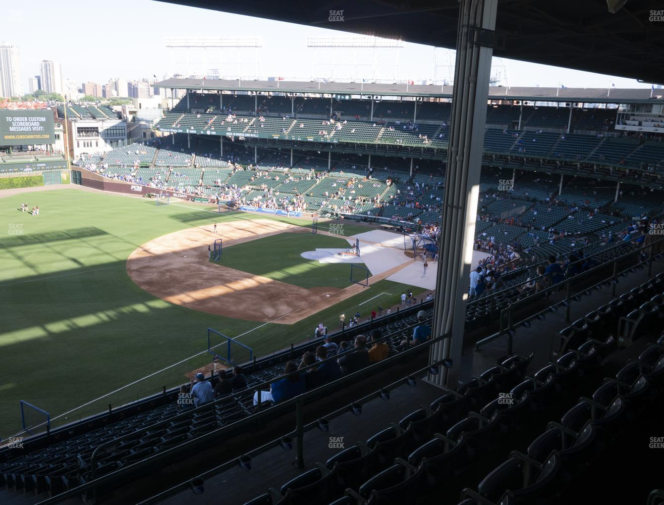 Chicago Cubs at Wrigley Field Section 405 Left View