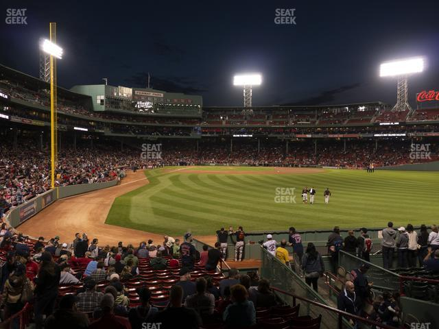Fenway Park Right Field Box 87 view